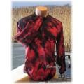 batika červeno-černá